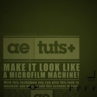Achieve a Microfilm Machine Look &#8211; AE Premium