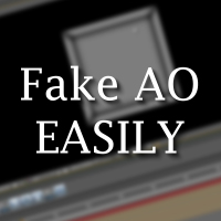 Quick Tip &#8211; Easily Fake An Ambient Occlusion Look